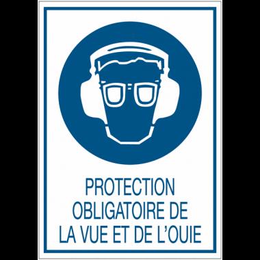 Panneaux de signalisation de sécurité standards - Protection obligatoire de la vue et de l'ouïe