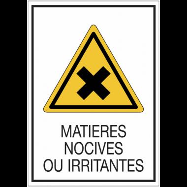 Panneaux de signalisation de sécurité standards - Matières nocives ou irritantes