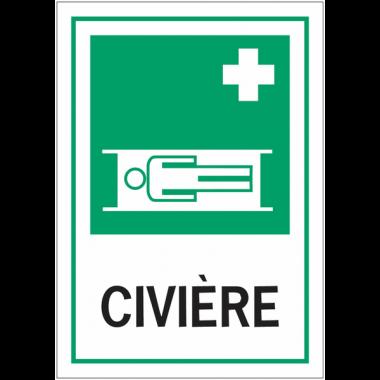 Panneaux de signalisation de sécurité standards - Civière