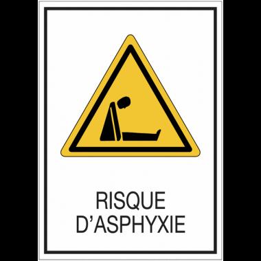 Panneaux de signalisation de sécurité standards - Risque d'asphyxie