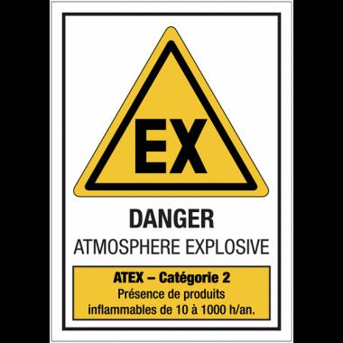 """Panneaux ATEX standards """"Atmosphère explosive - Catégorie 2"""""""