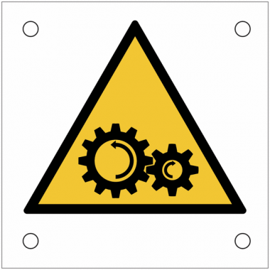 """Plaques de signalisation pour machines """"Danger, engrenage"""""""