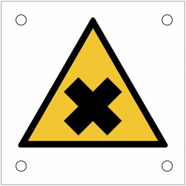 """Plaques de signalisation pour machines """"Matières nocives ou irritantes"""""""