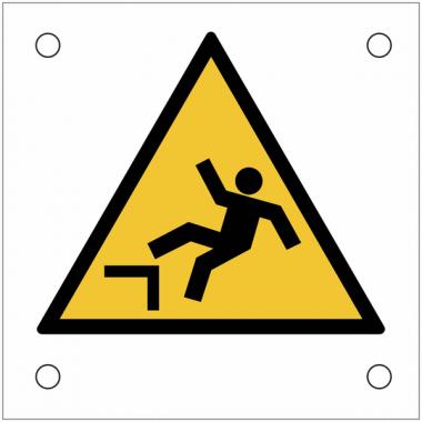 """Plaques de signalisation pour machines """"Danger, chute avec dénivellation"""""""