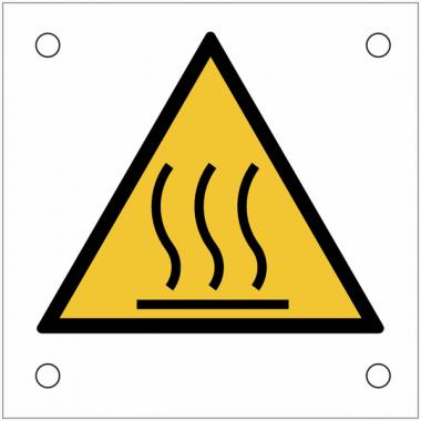 """Plaques de signalisation pour machines """"Danger, surface chaude"""""""