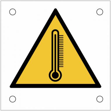 """Plaques de signalisation pour machines """"Risque thermique, températures extrêmes"""""""
