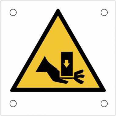 """Plaques de signalisation pour machines """"Danger, risque d'écrasement de la main"""""""