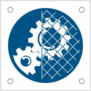 """Plaques de signalisation pour machines """"Grilles de protection obligatoires"""""""