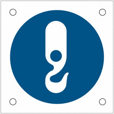 """Plaques de signalisation pour machines """"Point d'ancrage obligatoire"""""""