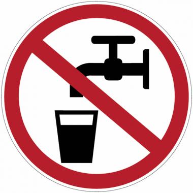 Etiquettes de signalisation pour machines - Eau non potable