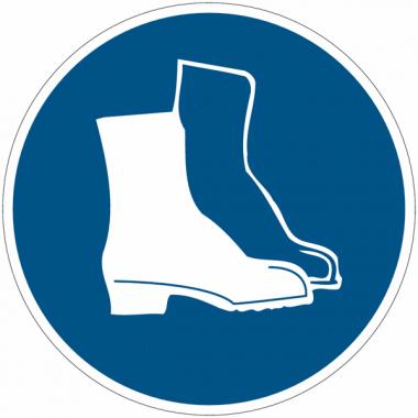 Etiquettes de signalisation pour machines - Chaussures de sécurité