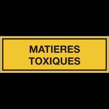 Panneaux de signalisation des produits dangereux - Matières toxiques