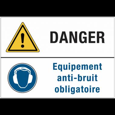 Panneaux duos - Danger - Equipement anti-bruit obligatoire