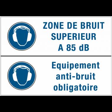 Panneaux duos - Zone de bruit superieur - Equipement anti-bruit obligatoire