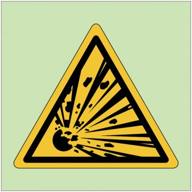 """Panneaux de danger photoluminescent """"Matières explosives"""""""