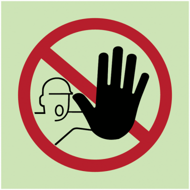 """Panneaux d'interdiction photoluminescent """"Accès interdit aux personnes non autorisées"""""""