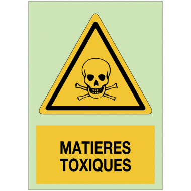 Panneaux de danger photoluminescent - Matières toxiques
