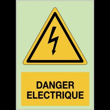 Panneaux de danger photoluminescent - Danger électrique