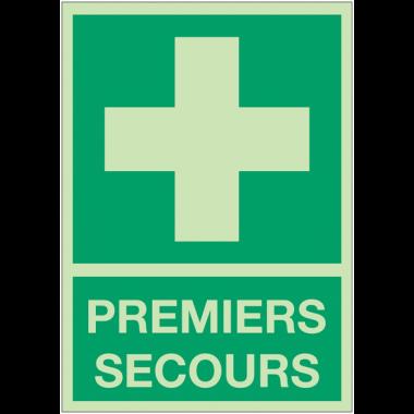 Panneaux de premiers secours photoluminescent - Premiers secours
