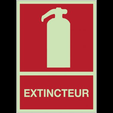 Panneaux d'incendie photoluminescent - Extincteur