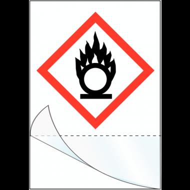 "Etiquettes symboles CLP à compléter ""Matières comburantes"""