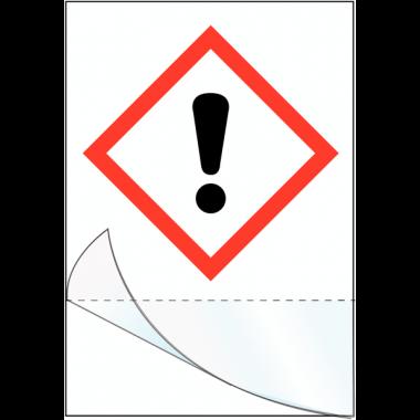 """Etiquettes symboles CLP à compléter """"Danger pour sensibilisation cutanée"""""""