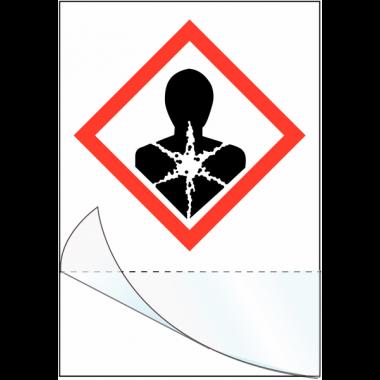 """Etiquettes symboles CLP à compléter """"Risque mutagène"""""""