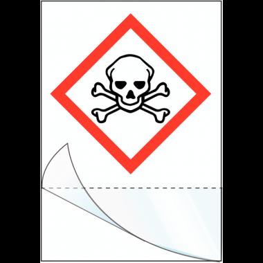 """Etiquettes symboles CLP à compléter """"Matières toxiques"""""""