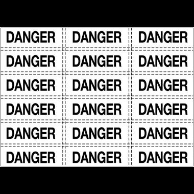 Etiquettes d'avertissement - Danger