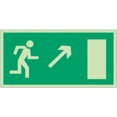 """Panneaux d'évacuation et de secours """"Homme qui monte, flèche à droite"""""""