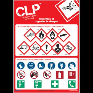 Posters CLP sur l'identification et la signalisation du danger des produits dangereux