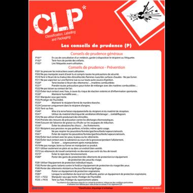 Posters CLP sur les conseils de prudence des produits dangereux