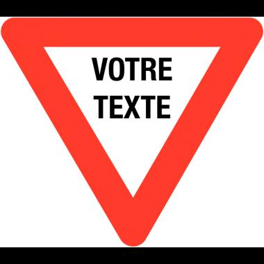 Panneaux de circulation anti-graffiti Premium triangulaire personnalisé