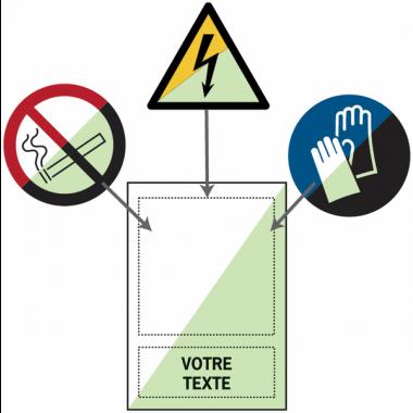 Panneaux en PVC photoluminescents avec pictogramme et texte personnalisés