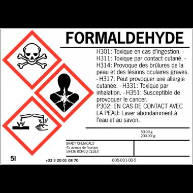 Etiquettes d'identification des produits dangereux sur mesure