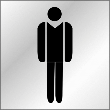 """Plaques signalétiques en plexiglas """"Toilettes homme"""""""