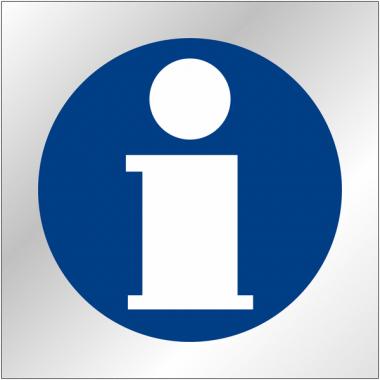 """Plaques signalétiques en plexiglas """"Point information"""""""