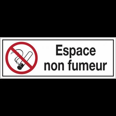 Panneaux d'interdiction rectangulaires - Espace non fumeur