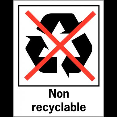 Panneaux de signalisation pour tri sélectif - Non recyclable