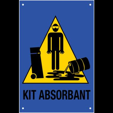 """Panneau """"Signalisation de kit d'absorbants"""""""