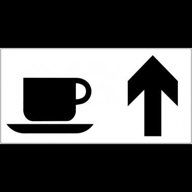 Panneau d'information Cafétéria - Flèche directionnelle