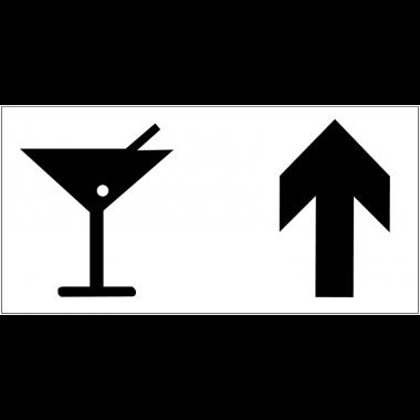 Panneau d'information Bar - Flèche directionnelle