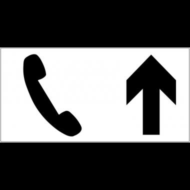 Panneau d'information Téléphone - Flèche directionnelle