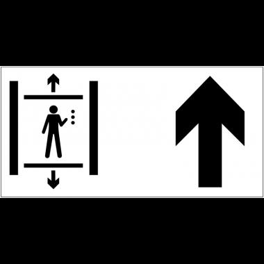 Panneau d'information Ascenseur - Flèche directionnelle