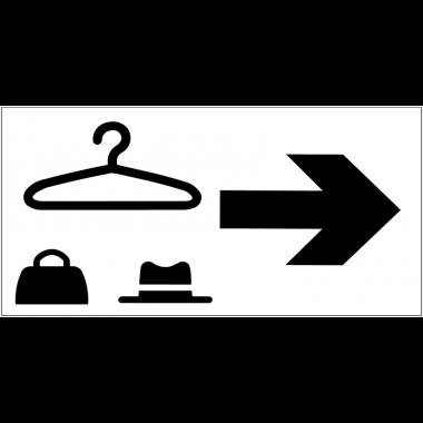 Panneau d'information Vestiaire - Flèche directionnelle