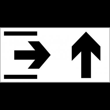 Panneau d'information Sortie - Flèche directionnelle