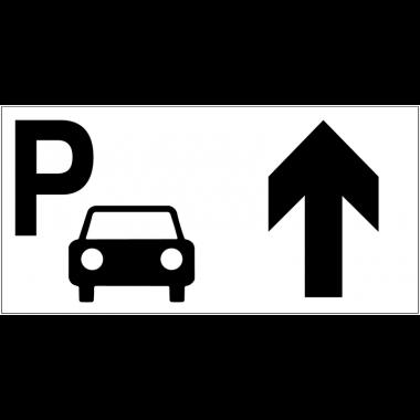 Panneau d'information Parking voitures - Flèche directionnelle