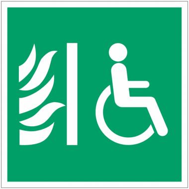 """Panneaux d'évacuation """"Espace d'attente sécurisé pour handicapés"""""""