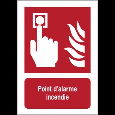 Panneaux ISO 7010 d'incendie à message vertical - Point d'alarme incendie - F005