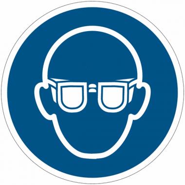 Prix Spécial - Pack de pictogrammes autocollants ISO 7010 Protection oculaire obligatoire M004
